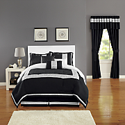 Urban Lux Embroidered 7-Piece Bed Set and Window Treatments
