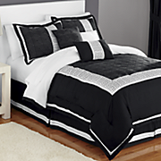 urban lux embroidered 7 pc  bed set