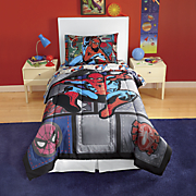 spider man jump kick comforter and sheet set