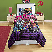 monster high comforter and sheet set