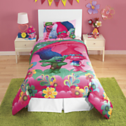 trolls by dreamworks comforter and sheet set