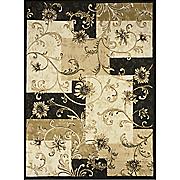 flower panel rug