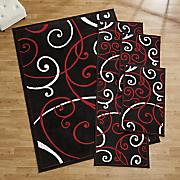 4 pc  bangles rug set