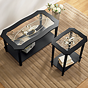 fleur de lis coffee table and end table