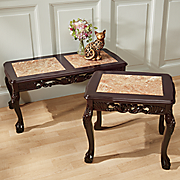 hand carved genuine marble tables