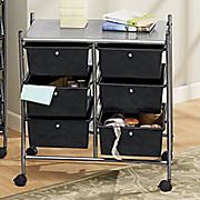 6 drawer rolling storage cart