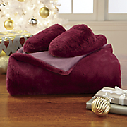 Softest Ever Throw and Slipper Set