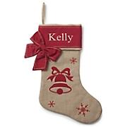 Personalized Holiday Burlap Stocking
