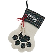 Personalized Holiday Paw-Print Stocking