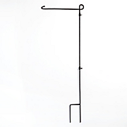 wrought iron flag stand