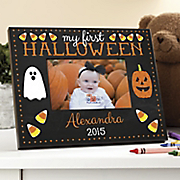 personalized first halloween photo frame