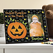 personalized cutest pumpkin photo frame