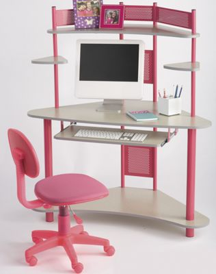 Corner Computer Desk and Child-Sized Task Chair