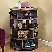 round swivel shoe rack