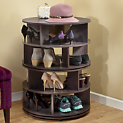 round swivel shoe rack