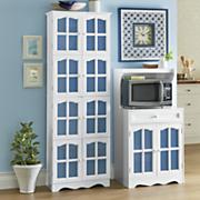 farmhouse microwave stand