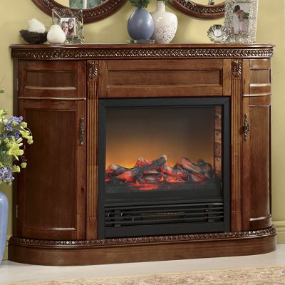 Signature Hand-Carved Fireplace