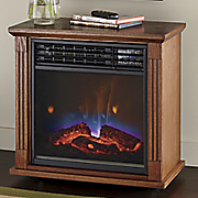mobile fireplace with infrared quartz