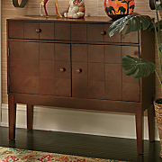 wood tile console