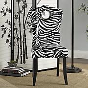 zebra nailhead chair