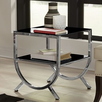 Half-Round Glass Side Table