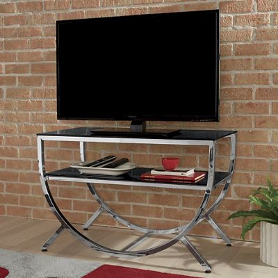 Half Round Glass TV Stand