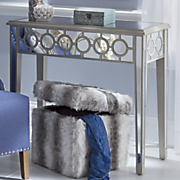 mirrored rectangle console table
