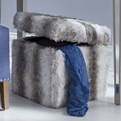 Fur Storage Ottoman