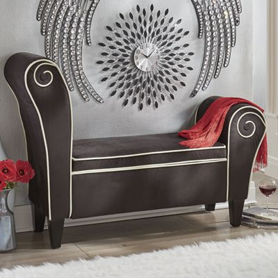 Spiral Upholstered Storage Bench