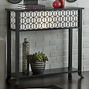 mod circles lighted console table