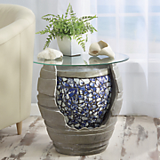 table fountain vase