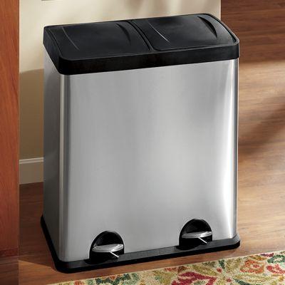 15-Gal. Dual Stainless Waste Bin