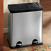 15 gal  dual stainless waste bin