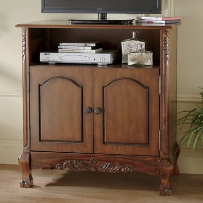 Walnut Tv Stand From Midnight Velvet V7745475