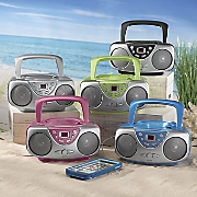 portable cd player with am fm by sylvania