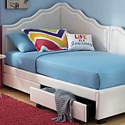 corner storage bed