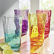 4 pc  assorted two tone bubble tumbler set
