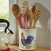 garden rooster tool crock by paula deen