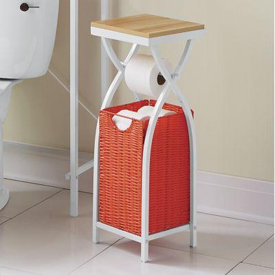 Cross Basket Toilet Paper Holder