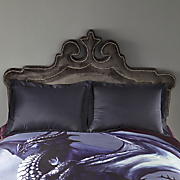 velvet studded shaped headboard