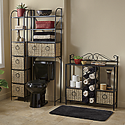 windsor tower  towel storage rack and space saver with baskets