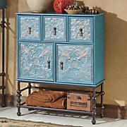 embossed floral bath cabinet