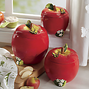 3 pc  apple canister set
