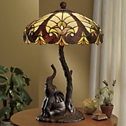 Stained Glass Elephant Lamp
