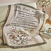 lord s prayer tapestry throw