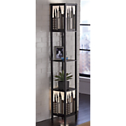 city sky floor lamp with shelves