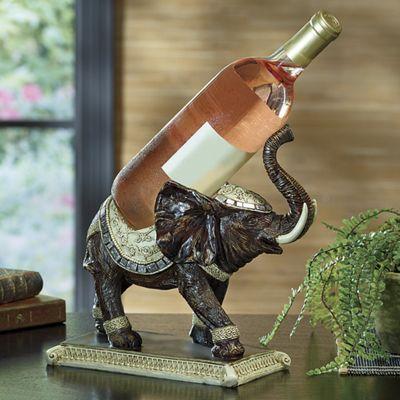 Elephant wine bottle holder from seventh avenue di745594 - Elephant wine bottle holder ...