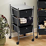 3 drawer rolling storage cart
