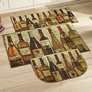 3 pc  wine row rug set by mohawk