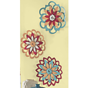 3 pc  colorful wall flower set